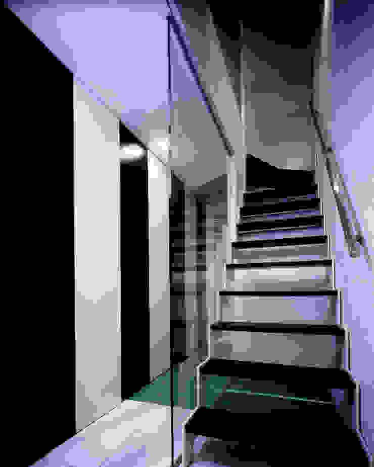 Modern Corridor, Hallway and Staircase by 加藤將己/将建築設計事務所 Modern
