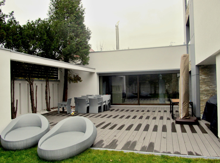 Jardins modernos por Tarasy-drewniane- Dorota Maciejewska Moderno