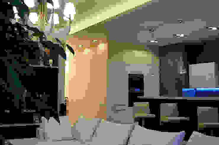 Квартира в жк <q>Аэробус</q> Гостиные в эклектичном стиле от In/De/Art Эклектичный