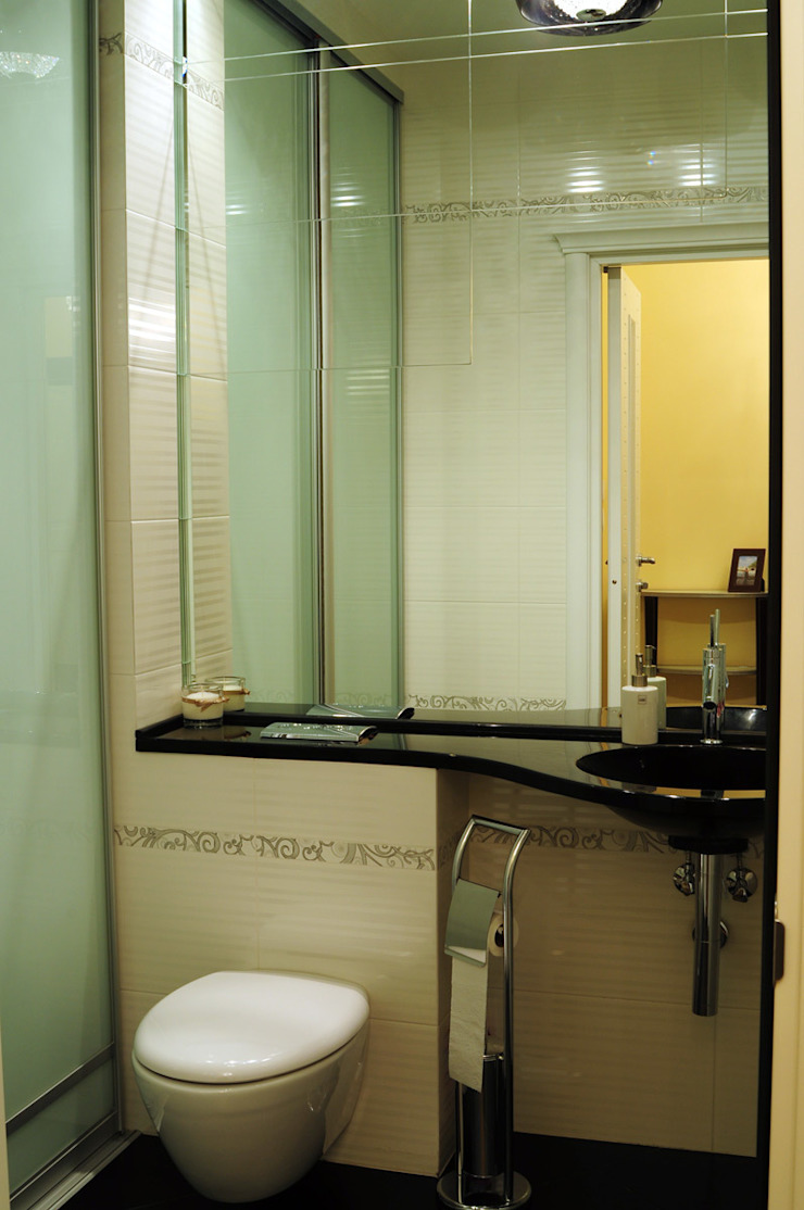 Квартира в жк <q>Аэробус</q> Ванная комната в эклектичном стиле от In/De/Art Эклектичный