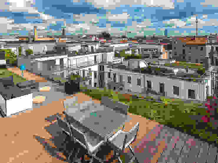 Cumaru Terrassendielen Tropischer Balkon, Veranda & Terrasse von Kahrs GmbH Tropisch