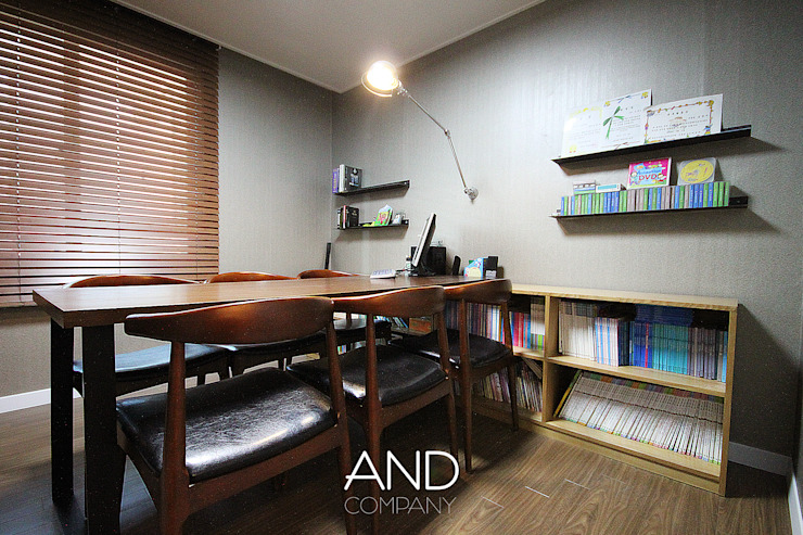 Modern style study/office by 앤드컴퍼니 Modern