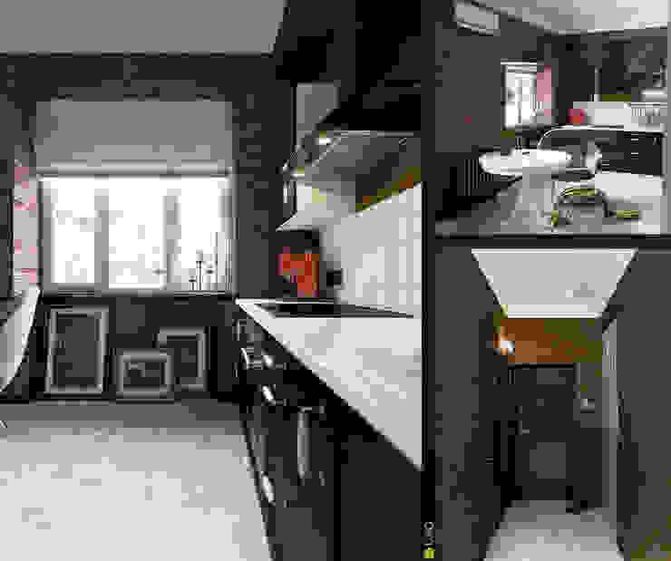 Интерьер с индивидуальностью Кухни в эклектичном стиле от Architectural Bureau DAOFORM Эклектичный