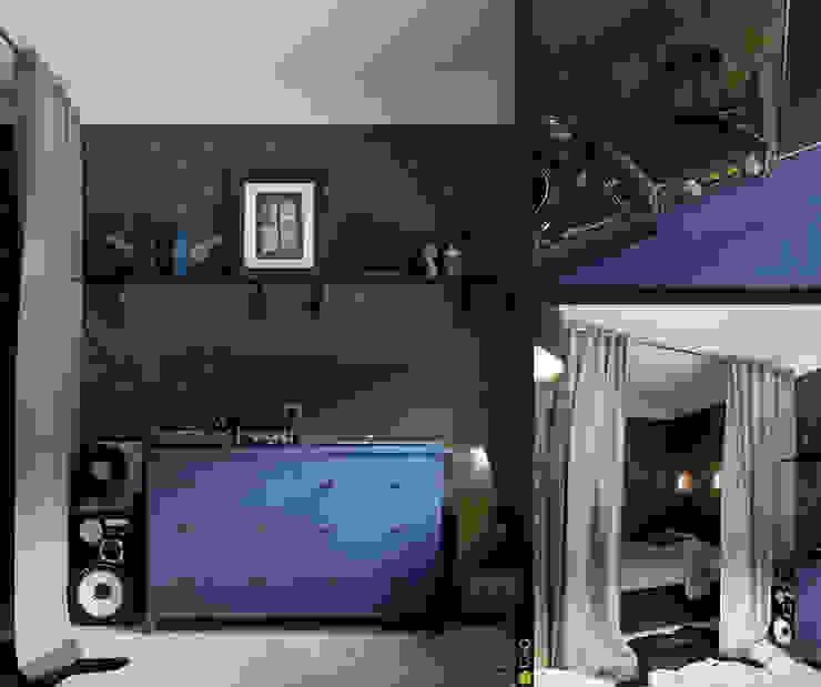 Интерьер с индивидуальностью Медиа комнаты в эклектичном стиле от Architectural Bureau DAOFORM Эклектичный