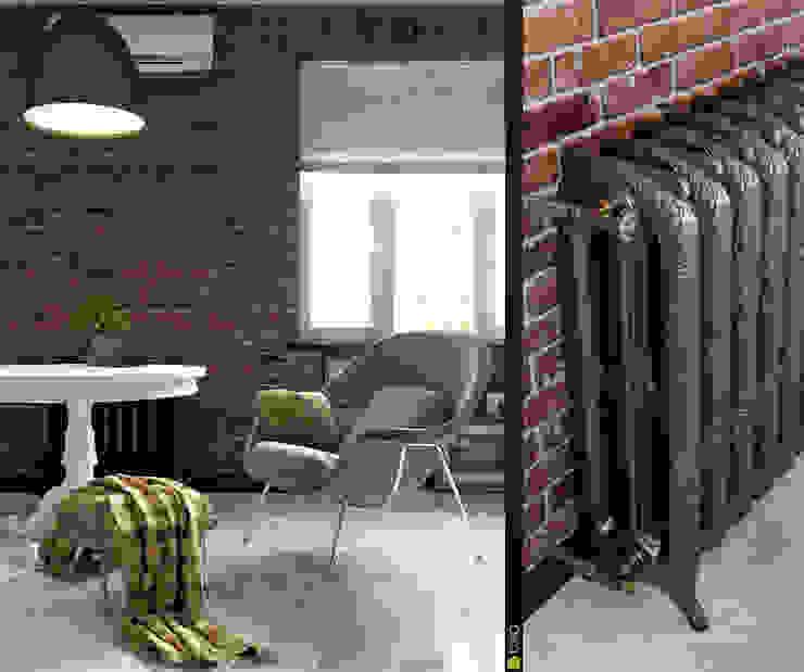 Интерьер с индивидуальностью Гостиные в эклектичном стиле от Architectural Bureau DAOFORM Эклектичный