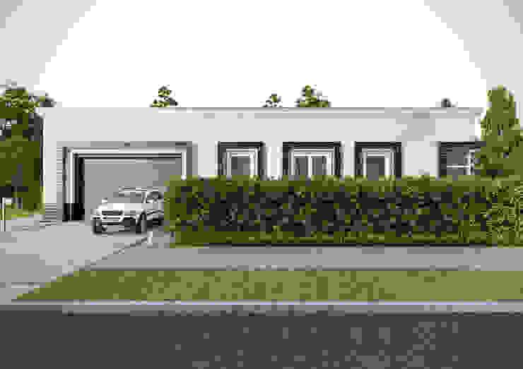 """Загородный дом в поселке """"Европейский"""" Дома в стиле модерн от Architectural Bureau DAOFORM Модерн"""