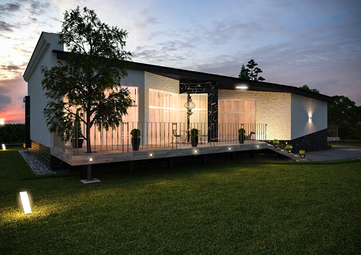 """Загородный дом в поселке """"Европейский"""" Architectural Bureau DAOFORM Дома в стиле модерн"""