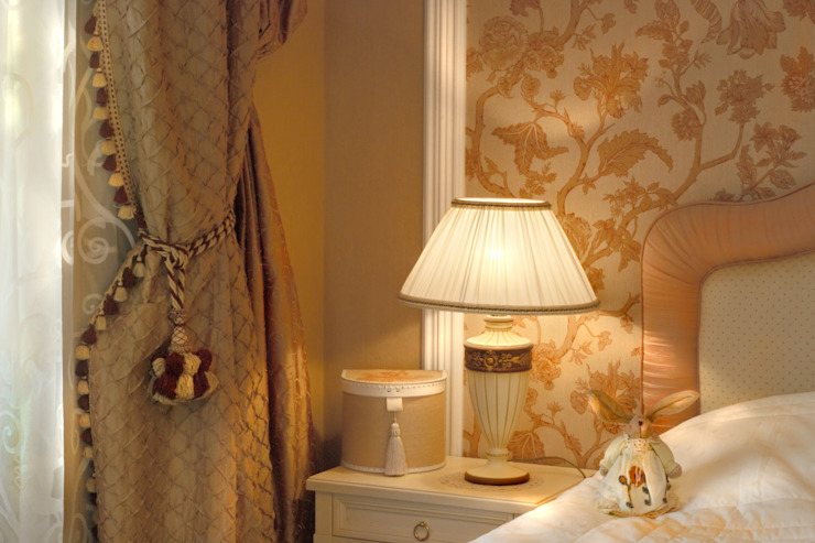 Цвета чайной розы D&T Architects Спальня в классическом стиле