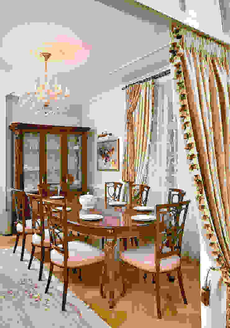 Цвета чайной розы D&T Architects Гостиная в классическом стиле