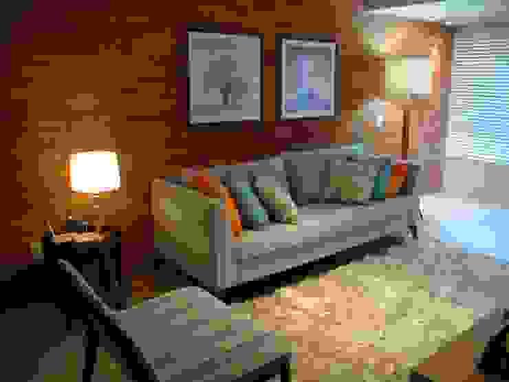 Apartamento Centro Salas de estar modernas por Geraldo Brognoli Ludwich Arquitetura Moderno