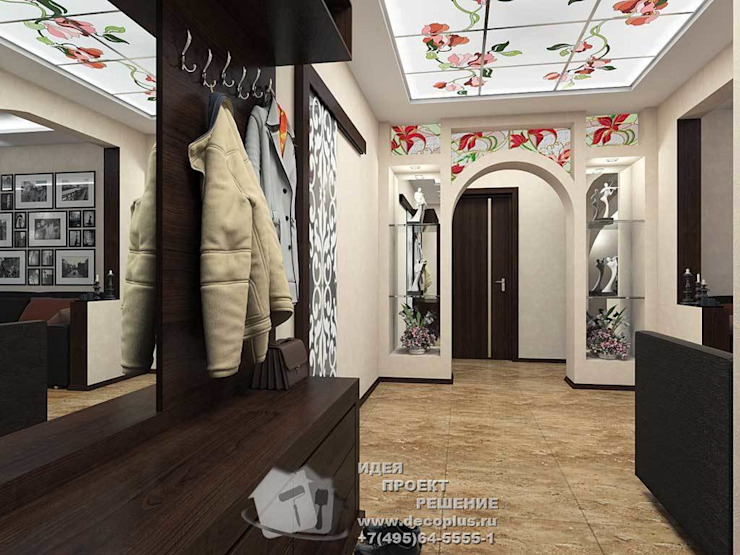 Дизайн интерьера гостиной Коридор, прихожая и лестница в эклектичном стиле от Бюро домашних интерьеров Эклектичный