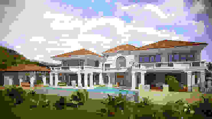 Дом на Кипре 1500м2 Дома в средиземноморском стиле от Архитектурная мастерская Бориса Коломейченко Средиземноморский