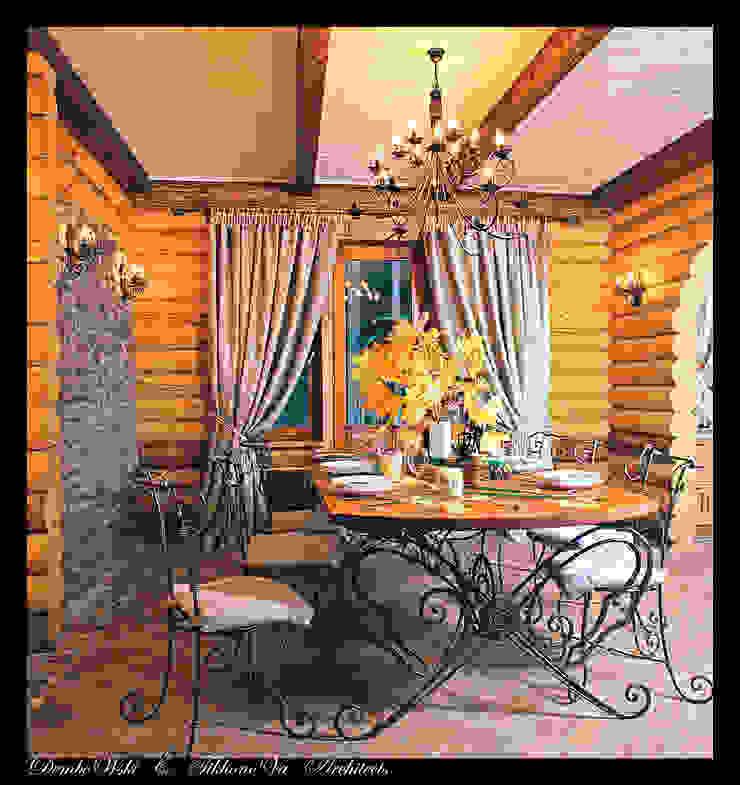 В гостях у сказки Столовая комната в стиле кантри от D&T Architects Кантри