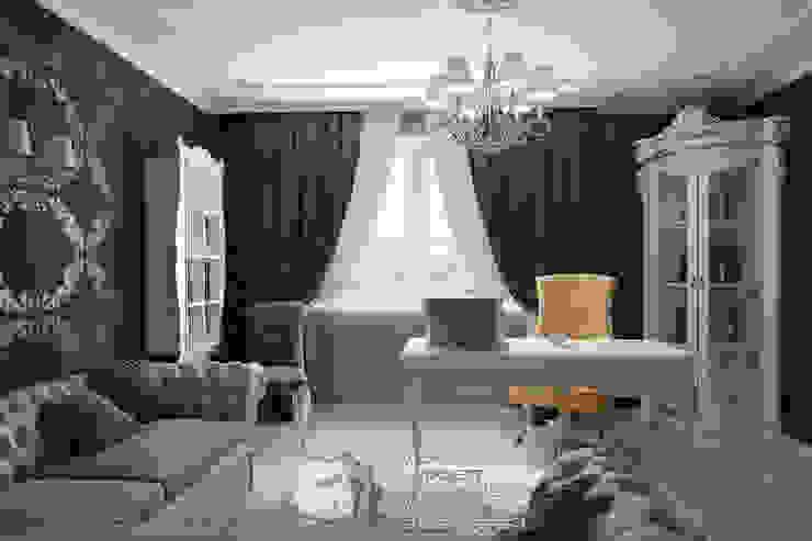 Ампирные мотивы в интерьере кабинета Рабочий кабинет в стиле модерн от Бюро домашних интерьеров Модерн