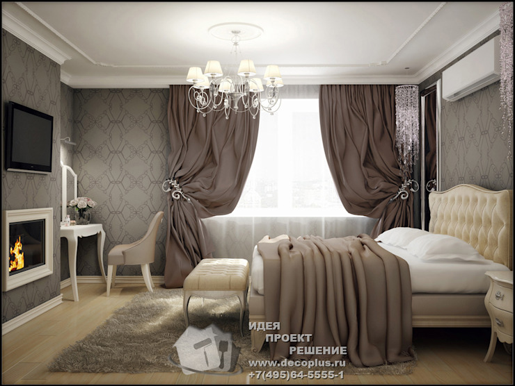 Фото интерьера спальни с элементами арт-деко Спальня в стиле модерн от Бюро домашних интерьеров Модерн