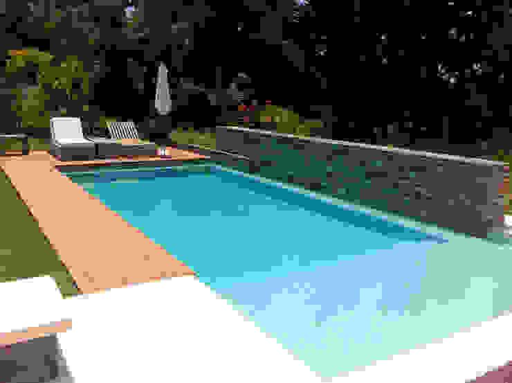 Piscinas Scualo 泳池 石器 Wood effect