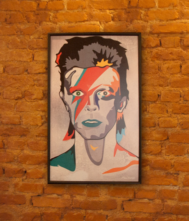 Arte/ Quadro Rockstars Allstars Bowie por A Nave Design Audio Video Moderno