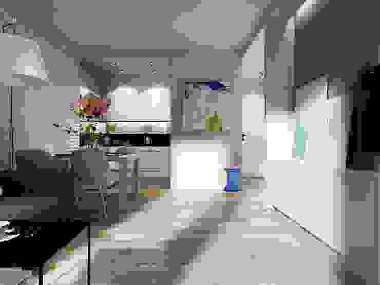 Mieszkanie tymczasowe od Projektowanie Wnętrz Suspenzo
