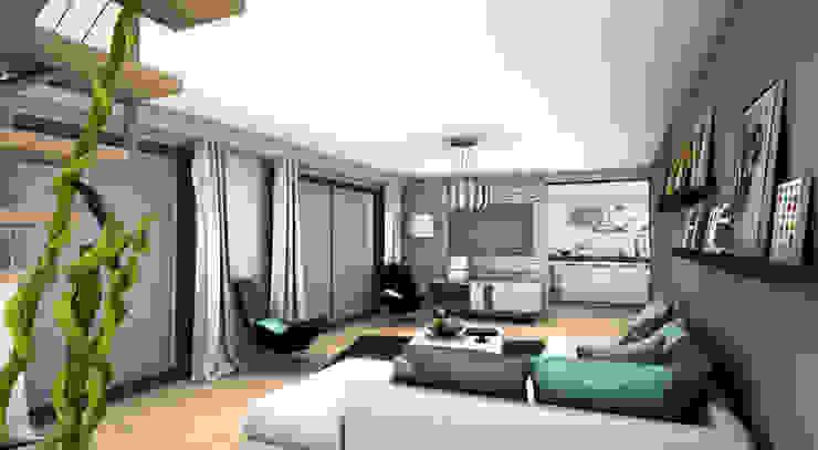 Salas de estar modernas por PYXIS Home Design Moderno