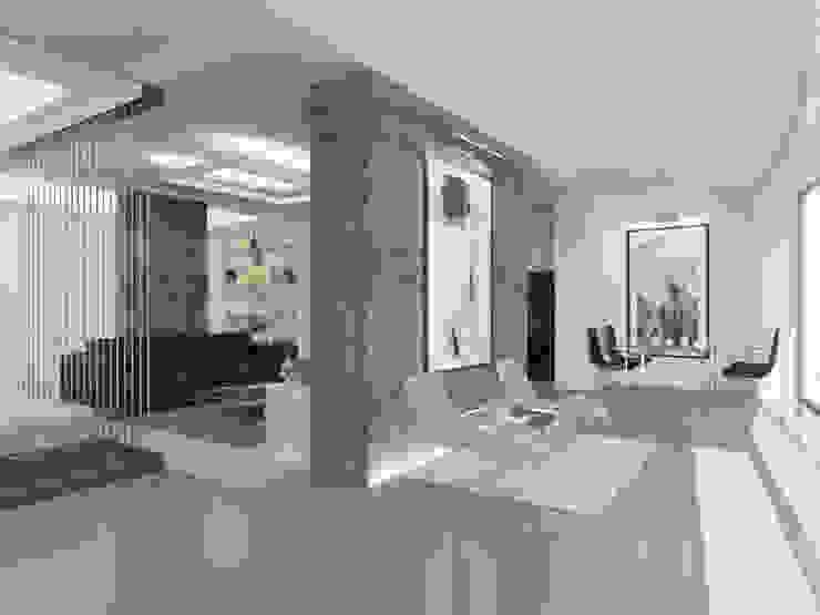 Студия-лофт в Тюмени: визуализация и дизайн Гостиная в стиле модерн от OK Interior Design Модерн