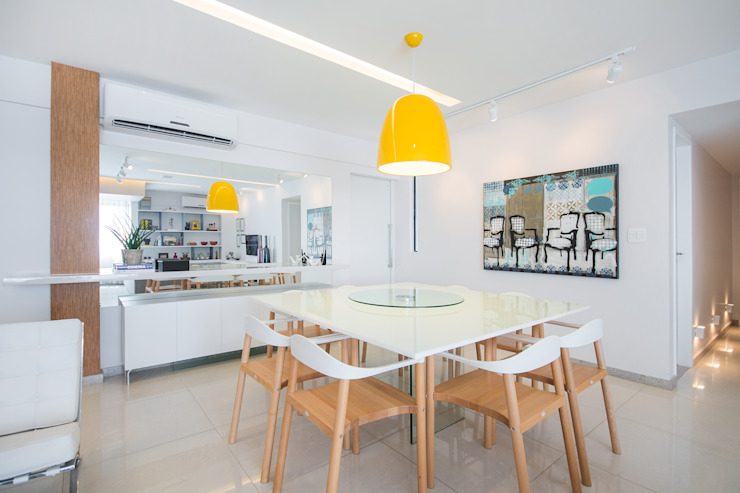 Apartamento Moderninho Salas de jantar modernas por homify Moderno