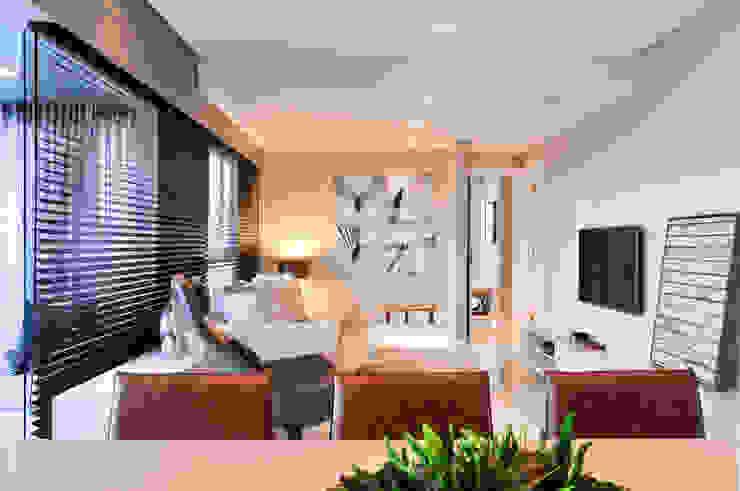 Apartamento BelaVista Salas de estar modernas por Spinola+Carvalho Arquitetura Moderno