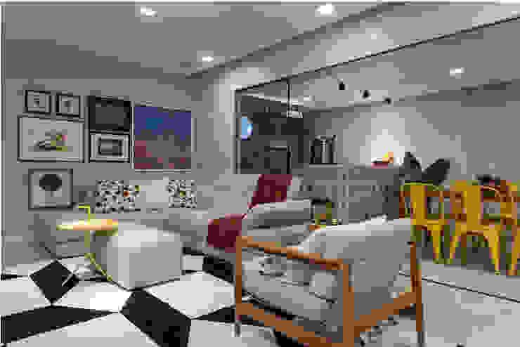 Apartamento Rio Vermelho Salas de estar modernas por Spinola+Carvalho Arquitetura Moderno