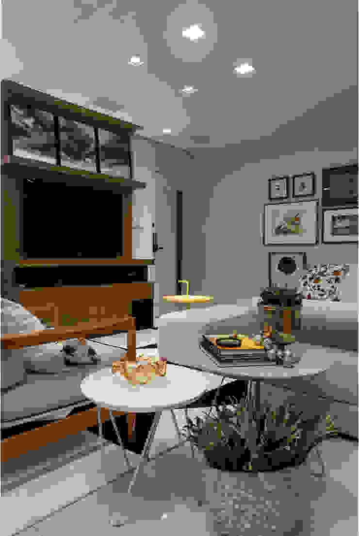 Apartamento Rio Vermelho Salas multimídia modernas por Spinola+Carvalho Arquitetura Moderno