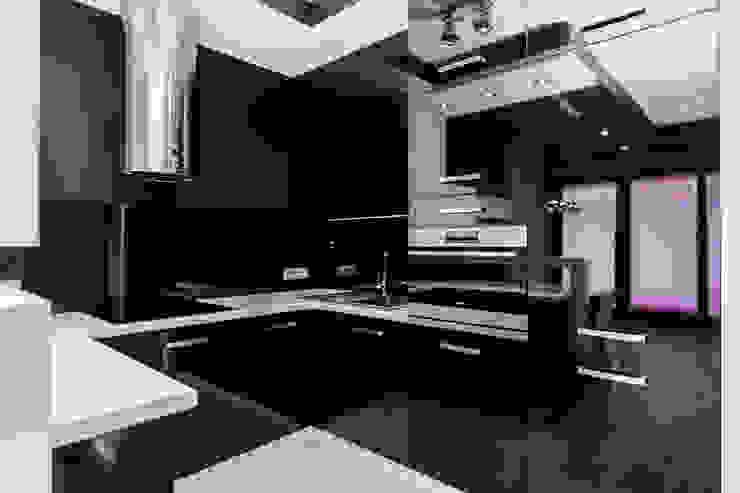 Apartament Dwupoziomowy Nowoczesna kuchnia od Tarna Design Studio Nowoczesny