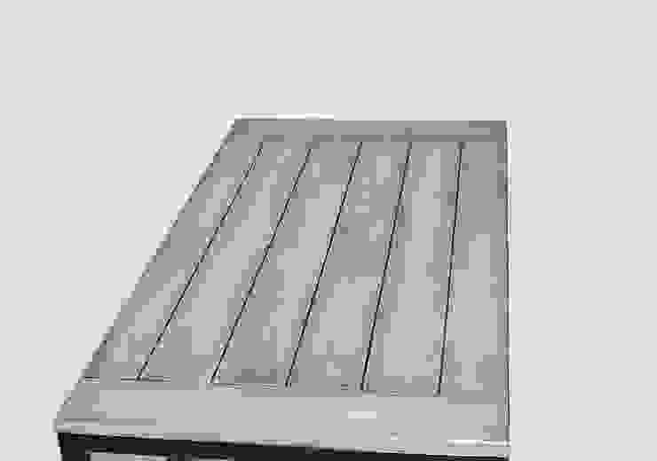 """Ława modernistyczna ze stali i dębu """"SIMPLICITY"""" od NordLoft - Industrial Design Industrialny"""