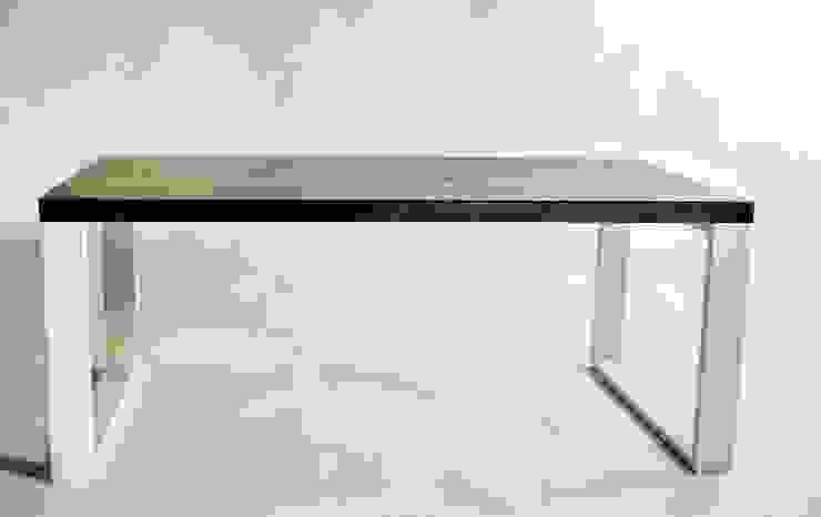 """Ława w stylu skandynawskim ze stali i dębu """"MOCCA"""" od NordLoft - Industrial Design Skandynawski"""