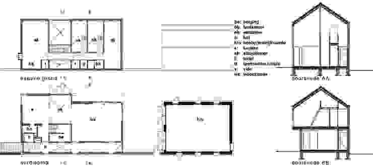 plattegronden en doorsneden: modern  door ddp-architectuur, Modern