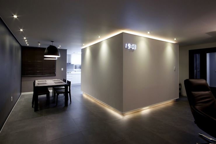 전주 아중리 대우아파트 -the grey-: 디자인투플라이의  다이닝 룸,모던