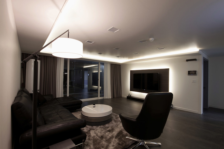 전주 아중리 대우아파트 -the grey- 모던스타일 거실 by 디자인투플라이 모던