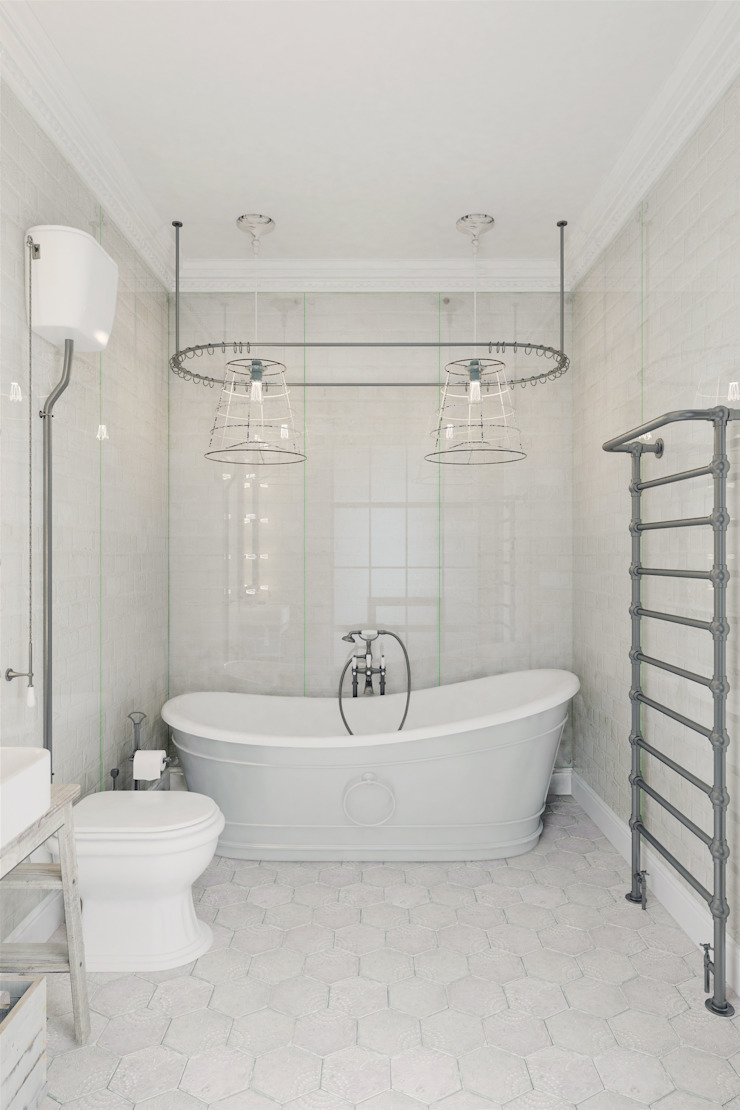 Eclectic style bathroom by Anton Medvedev Interiors Eclectic