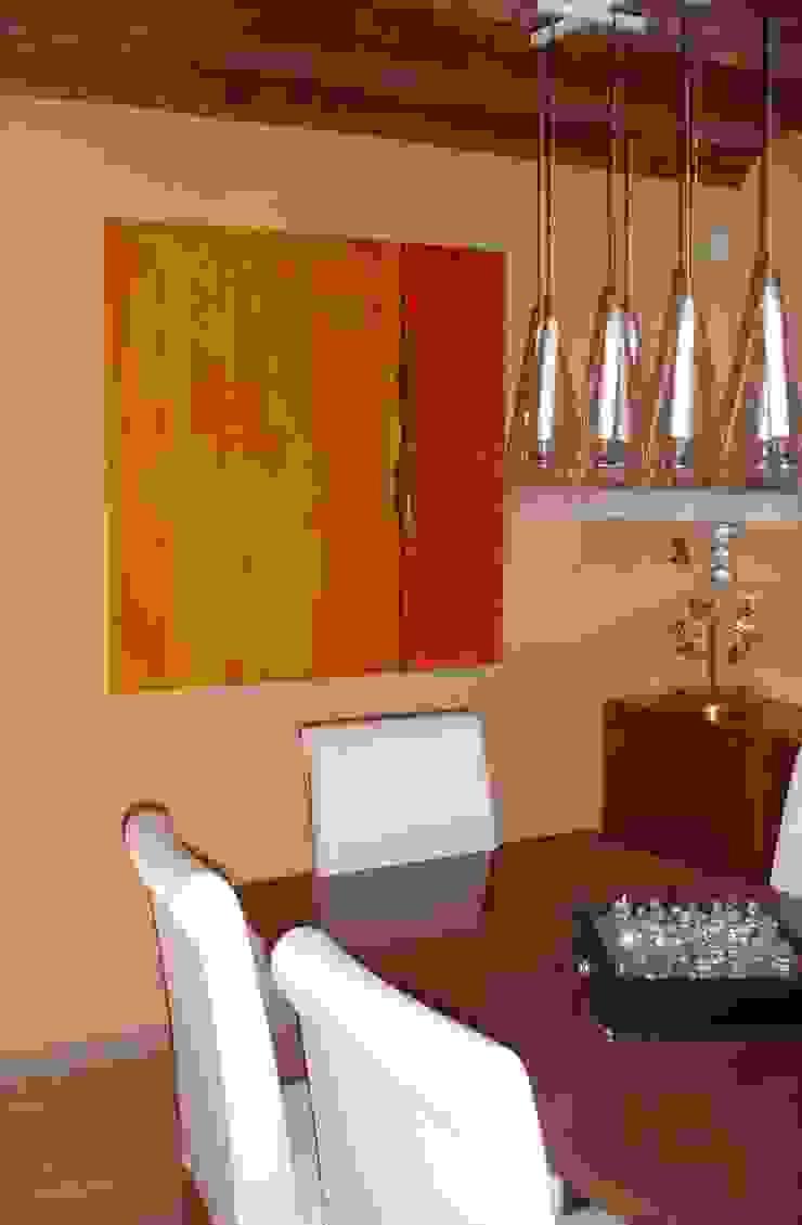 I FRUTTI DEL FUOCO - Art Studio ArtworkPictures & paintings Wood Orange