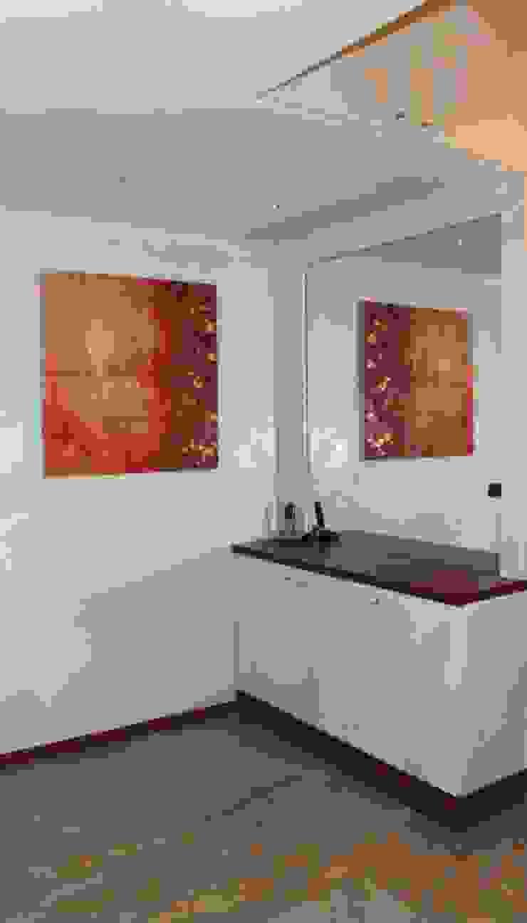 I FRUTTI DEL FUOCO - Art Studio ArtworkPictures & paintings Wood Red