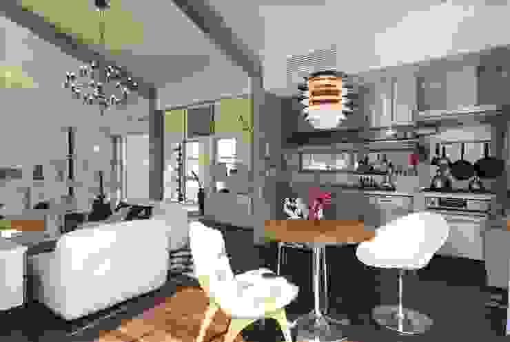 Ruang Makan Modern Oleh Qull一級建築士事務所 Modern