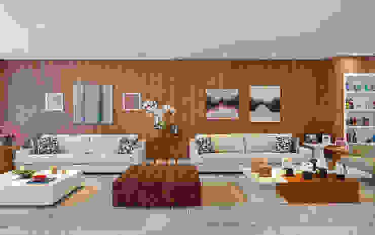Casa Luxo Salas de estar modernas por Carolina Mendonça Projetos de Arquitetura e Interiores LTDA Moderno
