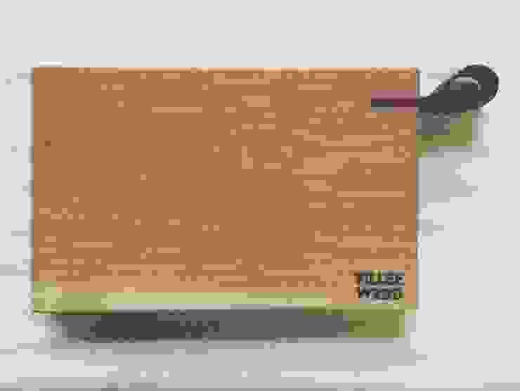 Разделочная доска с кожаной ручкой от VILLEEWOOD Скандинавский