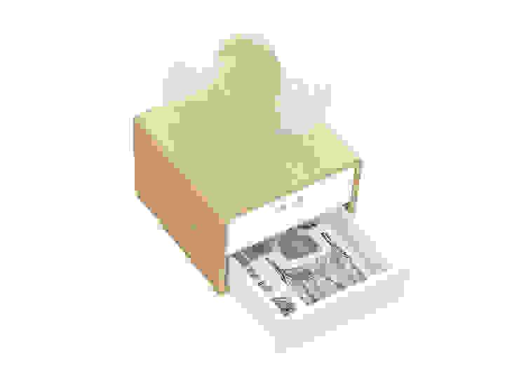 MARIA bedside table (drawer's inner coating in wallpaper) por DAM Campestre Madeira Acabamento em madeira