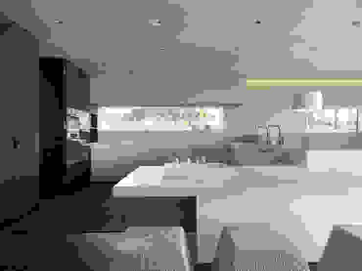 Einfamilienhaus am See Moderne Küchen von domus mea gmbh Modern