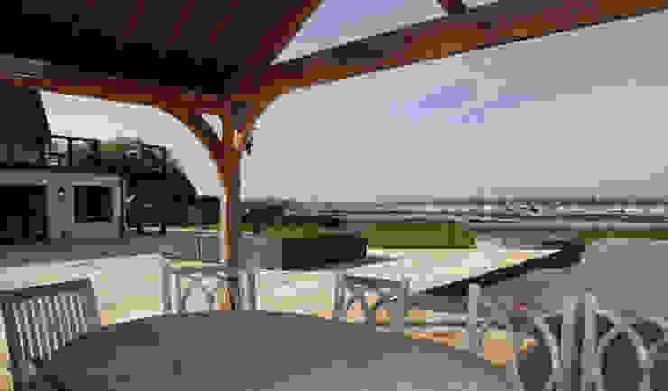 Pool House, Outdoor Lving Classic style balcony, veranda & terrace by JBA Architecture Classic
