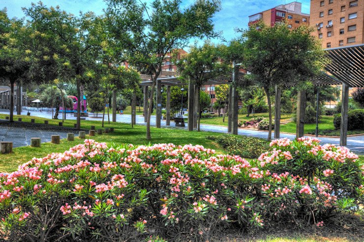 Parque de Los Juncos Jardines de estilo moderno de BERNARDINO ARQUITECTOS, SLP Moderno