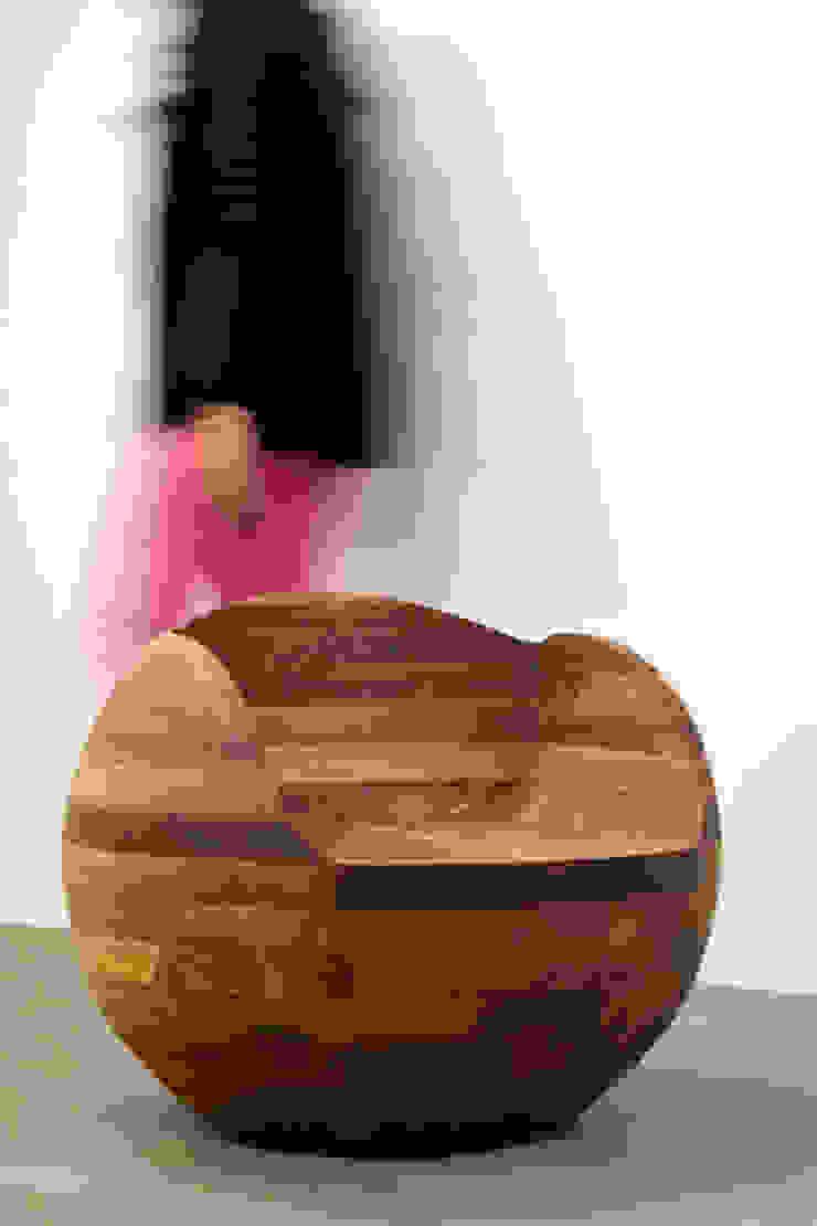 Asiento Esfera de Mediamadera Moderno Madera Acabado en madera