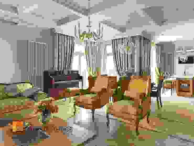 Классический стиль в интерьере квартиры в ЖК «Duderhof Club», 193 кв.м. Гостиная в классическом стиле от Студия Павла Полынова Классический