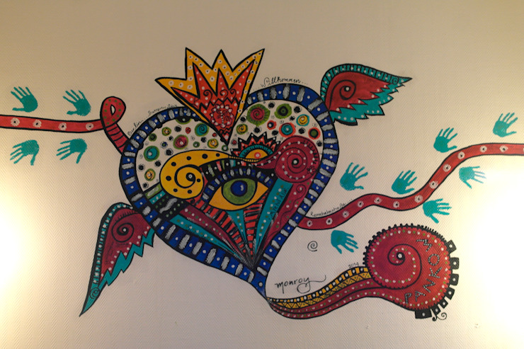 Mural: Bienvenido a Pankow de Bianca Monroy Moderno