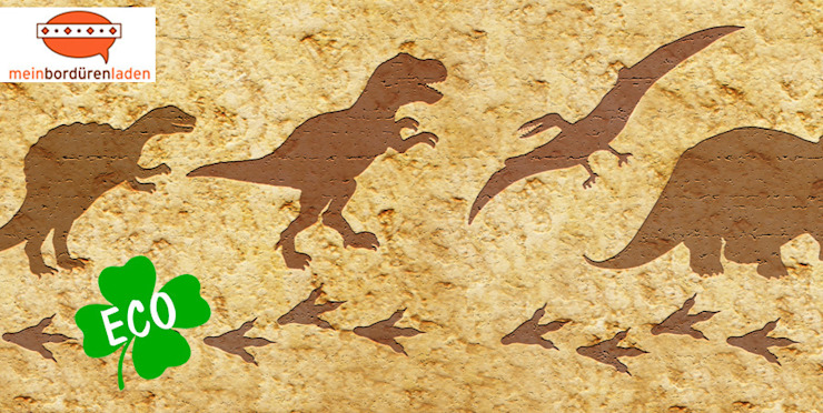 Bordüre - Dino-Spuren Ausgefallene Kinderzimmer von Mein Bordürenladen Ausgefallen