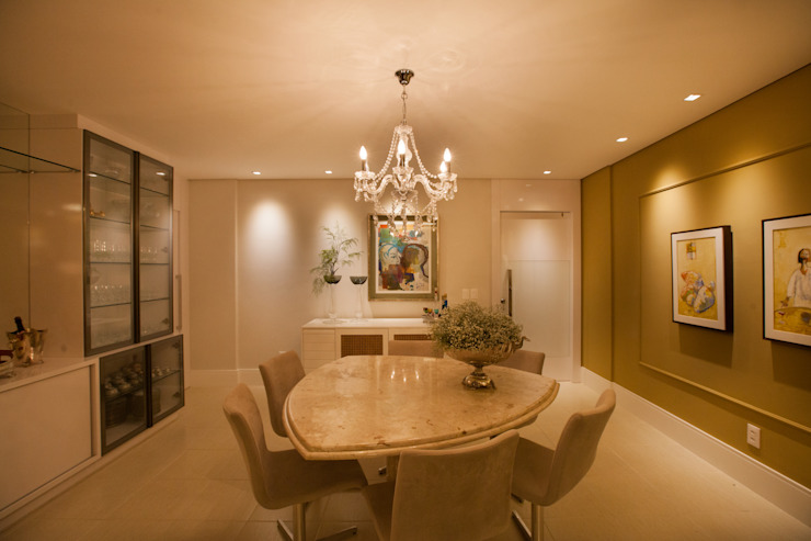 Apartamento AF Salas de estar ecléticas por Passo3 Arquitetura Eclético