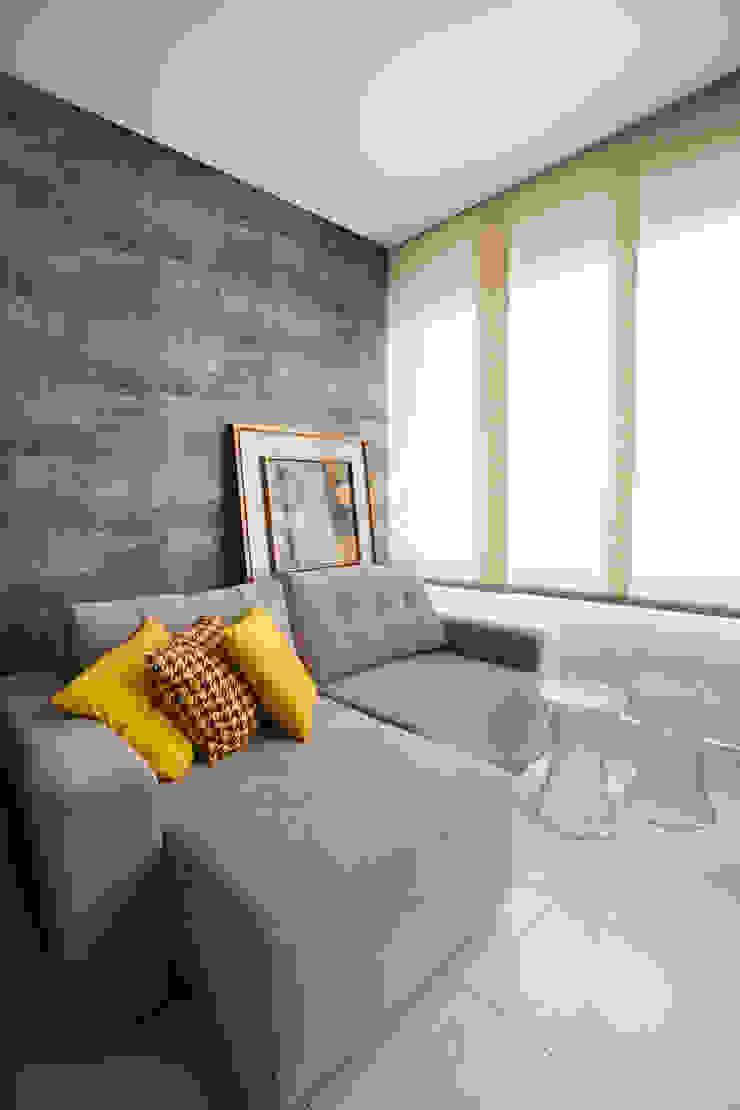 Apartamento AF Salas multimídia ecléticas por Passo3 Arquitetura Eclético